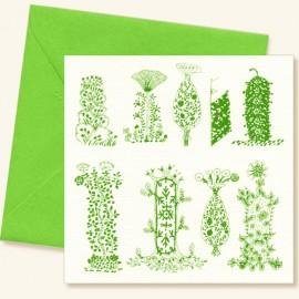 Carte croquis d 39 arbres verts p le m le - Croquis arbre ...